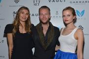 Christina Sands, Michael Lillelund and Anna Zakusylo attend the V.A.U.L.T. Art Basel Party on December 6, 2012 in Miami, Florida.