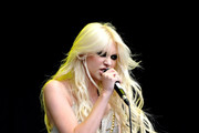 Taylor Momsen of The Pretty Reckless performs during Day one of V Festival 2010 on August 21, 2010 in Chelmsford, England.