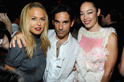 Rachel Zoe,James Kaliardos and Cecilia Dean attend V Magazine's New York issue celebration at The Standard on September 13, 2010 in New York City.