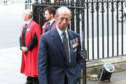 Prince Edward, Duke of Kent attends the VE Day 70th Anniversary service at Westminster Abbey on May 10, 2015 in London, England.