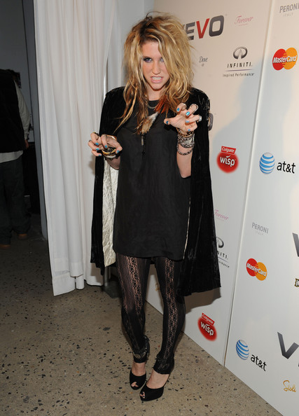 Singer Ke$ha attends the launch of VEVO, a music-video website, at Skylight Studio on December 8, 2009 in New York City.