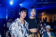 Amber Liu and Irene Kim attend the VFILES show during New York Fashion Week at Barclays Center of Brooklyn on September 6, 2017 in New York City.