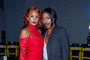 Joan Hervey Lion Babe and Jeffrey C Williams attend the VFILES show during New York Fashion Week at Barclays Center of Brooklyn on September 6, 2017 in New York City.