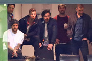 Nathan Jones of the Demons, Jake Melksham of the Demons, Michael Hibberd of the Demons and Simon Goodwin, coach of the Demons watch from the crowd during the VFL Grand Final match between Casey and Box Hill at Etihad Stadium on September 23, 2018 in Melbourne, Australia.