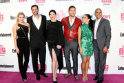 (L-R) Actors Katherine Bailess, James LaRosa, Jodi Lyn O'Keefe, Adam Senn, Valery Ortiz and Jonathan McDaniel attend VH1 Big in 2015 With Entertainment Weekly Awards at Pacific Design Center on November 15, 2015 in West Hollywood, California.