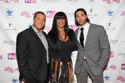 "(L-R) Anthony Cracchiolo, Angela ""Big Ang"" Raiola and Frank Russo attend the VH1 Big Ang Party at Trattoria Dopo Teatro on July 8, 2012 in New York City."