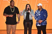 Busta Rhymes, Angie Martinez and Timbaland perform onstage during the VH1 Hip Hop Honors: All Hail The Queens at David Geffen Hall on July 11, 2016 in New York City.