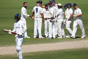 Victoria players celebrate winning after  Trent Copeland of New South Wales was dismissed off the bowling of Fawad Ahmed of Victoria during day five of the Sheffield Shield match between Victoria and New South Wales at Junction Oval on March 6, 2018 in Melbourne, Australia.