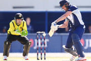 Cameron White of Victoria misses  shot to be later stumped by Josh Inglis of Western Australia during the JLT One Day Cup between Victoria and Western Australia at Junction Oval on September 26, 2018 in Melbourne, Australia.