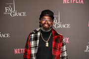 Lil Rel Howery attends VIP Screening of Tyler Perry's A Fall From Grace with Bresha Webb at Neuehouse in Los Angeles on January 09, 2020 in Hollywood, California.