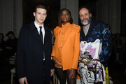 Tom Mercier, Kiki Layne and Luca Guadagnino attend the Valentino Haute Couture Spring/Summer 2020 show as part of Paris Fashion Week on January 22, 2020 in Paris, France.