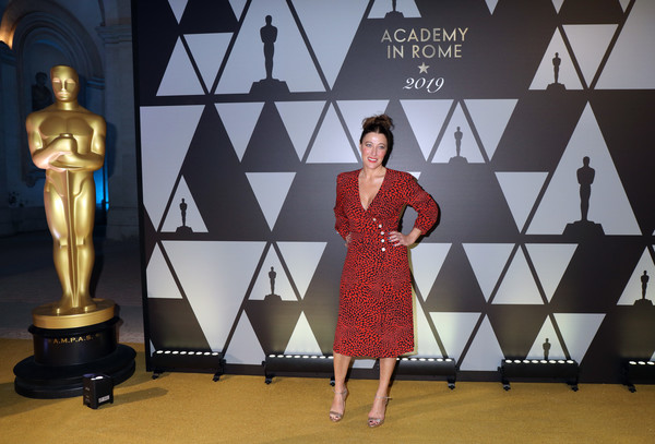 Academy Of Motion Picture, Arts And Sciences, And Istituto Luce - Cinecittà Event [fashion,dress,design,fashion design,flooring,carpet,advertising,talent show,banner,collection,istituto luce,valeria bruni tedeschi attends academy of motion picture,academy of motion picture,cinecitt\u00e0 event,italy,rome,cinecitt\u00e3 event at palazzo barberini]
