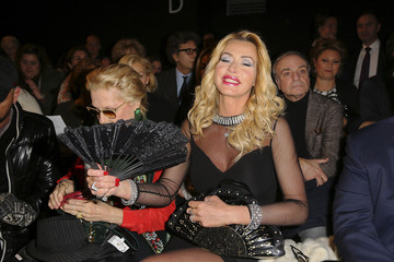 Valeria Marini Front Row at the Renato Balestra Show