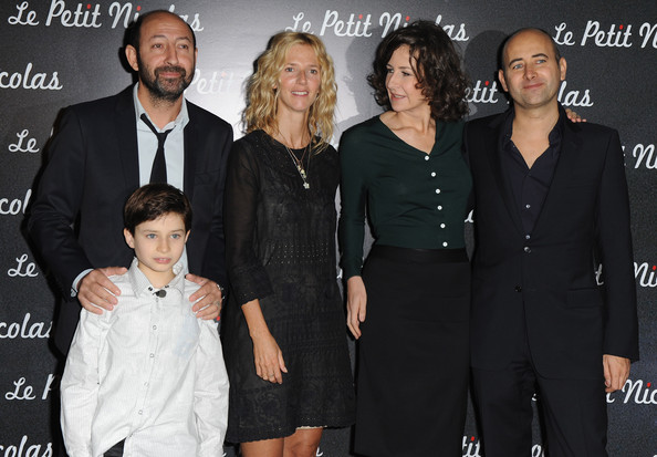 """Le Petit Nicolas"" Paris Premiere [le petit nicolas,paris premiere,event,premiere,suit,formal wear,little black dress,kad merad,laurent tirard,actresses,valerie lemercier,sandrine kiberlain,l-r,le grand rex,premiere]"
