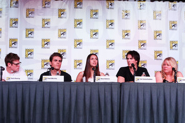 "Paul Wesley Julie Plec ""The Vampire Diaries"" Screening - Comic-Con International 2012"
