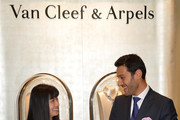 Nancy Bai, Boutique Manager (L) and Alain Bernard, President and CEO of The Americas for Van Cleef & Arpels attend the celebration of Van Cleef & Arpels newly re-designed South Coast Plaza Boutique at Van Cleef & Arpels on February 6, 2014 in Orange County, California.