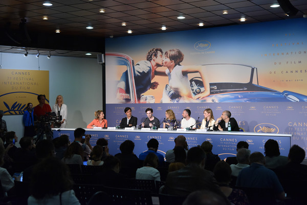'Knife + Heart (Un Couteau Dans Le Coeur)' Press Conference - The 71st Annual Cannes Film Festival