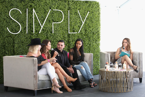 SIMPLY Los Angeles Fashion + Beauty Conference Powered by NYLON at The Grove [furniture,tree,leisure,table,sitting,photography,plant,comfort,michael costello,amber farr,vanessa simmons,audrina patridge,ali grant,nylon,tv personality,l-r,the grove,los angeles fashion beauty conference]