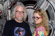 Artists Ron English and Olek attend Vanity Fair And Cadillac Toast The Artists Of Wynwood Walls at Wynwood Kitchen & Bar on December 4, 2013 in Miami, Florida.