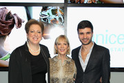 (L-R) Caryl Stern, Carol Hamilton, and Alexandre Choueiri attend Vanity Fair Campaign Hollywood Social Club - Beauty Moment: Giorgio Armani Beauty Happy Hour Toasting UNICEF on February 19, 2015 in Los Angeles, California.