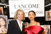 (L-R) Lancome International Global Brand President Francoise Lehmann and Zendaya attend Vanity Fair and Lancôme Toast Women In Hollywood on February 21, 2019 in West Hollywood, California.