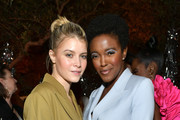 (L-R) Sarah Jones and Krys Marshall attend Vanity Fair and Lancôme Toast Women in Hollywood on February 06, 2020 in Los Angeles, California.