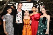 (L-R) Storm Reid, Jacob Elordi, Sydney Sweeney, Zendaya, and Maude Apatow attend Vanity Fair and Lancôme Toast Women In Hollywood on February 21, 2019 in West Hollywood, California.