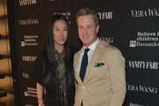 Vera Wang (L) and Brian Sawyer attend Vanity Fair And Vera Wang Celebrate The Opening Of Vera Wang On Rodeo Drive on June 18, 2014 in Beverly Hills, California.