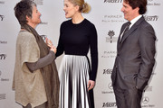 """(L-R) Artistic director Helen du Toit, actress Rosamund Pike, honoree Rob Marshall attend Variety's Creative Impact Awards and """"10 Directors To Watch"""" brunch presented by Mercedes Benz at Parker Palm Springs on January 4, 2015 in Palm Springs, California."""