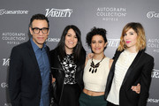 (L-R) Actors Fred Armisen, Abbi Jacobson, Ilana Glazer and Carrie Brownstein attend Variety Studio Actors on Actors presented by Autograph Collection Hotels on March 29, 2015 in Los Angeles, California.