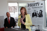 """Producer Jane Rosenthal  (R) speaks at Variety's """"New York: Capital Of Content"""" during the 2013 Tribeca Film Festival on April 24, 2013 in New York City."""