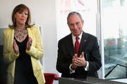 """Producer Jane Rosenthal and New York City Mayor Michael Bloomberg attend Variety's """"New York: Capital Of Content"""" during the 2013 Tribeca Film Festival on April 24, 2013 in New York City."""
