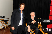 Actor Eric Mabius and Stan Lee attends Day 4 of The Variety Studio during the 2012 Sundance Film Festival  held at Variety Studio At Sundance on January 24, 2012 in Park City, Utah.