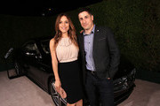 Actress Jenny Mollen (L) and actor Jason Biggs attend Variety and Women in Film Emmy Nominee Celebration powered by Samsung Galaxy on August 23, 2014 in West Hollywood, California.