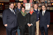 (L-R) Producer Larry Kaye, playwright Eric Coble, director Molly Smith, actress Estelle Parsons, actor Stephen Spinella and producer Van Dean attend the press preview for 'The Velocity of Autumn' at Sardi's on March 3, 2014 in New York City.