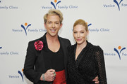 Julie Mintz (R) and Stylist and TV Personality Derek Warburton attend Venice Family Clinic Hosts 37th Annual Silver Circle Gala: Honoring Ivy Kagan and Russel Tyner at Regent Beverly Wilshire Hotel on March 25, 2019 in Beverly Hills, California.