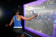 Venus Williams plays American Express Super Rally inside the American Express Fan Experience at the 2018 US Open Tennis Championships on August 28, 2018 in the Queens borough of New York City.