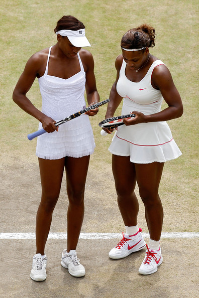 Serena Williams and Venus Williams - The Championships - Wimbledon 2010: Day Nine