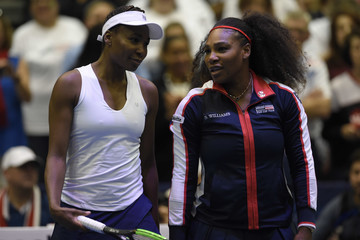 Venus Williams Serena Williams 2018 Fed Cup First Round - Team USA v the Netherlands