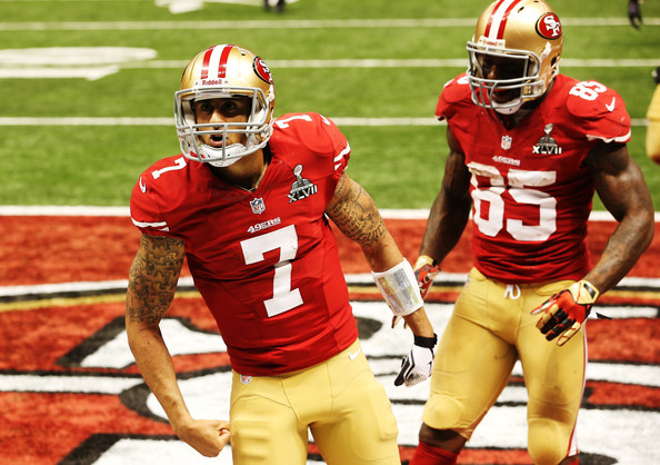 Vernon Davis and Colin Kaepernick Photos - 17 of 23. Super Bowl XLVII -  Baltimore ... a09bd0653