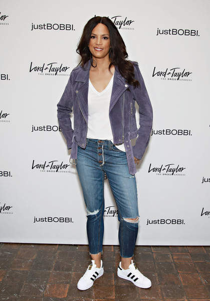 Lord & Taylor And Bobbi Brown Celebrate The Launch Of justBOBBI Concept Shop [clothing,jeans,denim,fashion,outerwear,footwear,street fashion,jacket,shoe,fashion design,bobbi brown,veronica webb,justbobbi,justbobbi concept shop,concept shop,new york city,lord taylor,launch,launch]