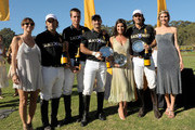 (L-R) Host Vanessa Kay, Host Nacho Figueras, Delfina Blaquier and the Black Watch Polo Team pose with award during the Veuve Clicquot Polo Classic Los Angeles at Will Rogers State Historic Park on October 9, 2011 in Los Angeles, California.
