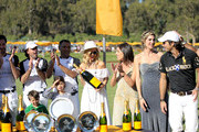 (L-R) Stylist Rachel Zoe, host Vanessa Kay, Delfina Blaquier and Host Nacho Figueras attend Veuve Clicquot Polo Classic Los Angeles at Will Rogers State Historic Park on October 9, 2011 in Los Angeles, California.