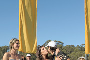 (L-R) Delfina Blaquier, Host Vanessa Kay and Host Nacho Figueras attends Veuve Clicquot Polo Classic Los Angeles at Will Rogers State Historic Park on October 9, 2011 in Los Angeles, California.