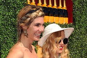 Delfina Blaquier and Stylist Rachel Zoe arrive at Veuve Clicquot Polo Classic Los Angeles at Will Rogers State Historic Park on October 9, 2011 in Los Angeles, California.
