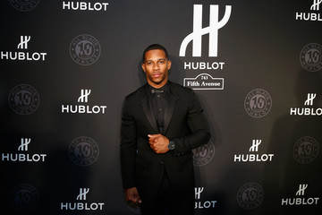 Victor Cruz Hublot Celebrates Grand Opening of Hublot Fifth Avenue and 10 Year Anniversary of All Black Collection