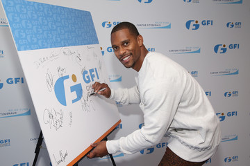 Victor Cruz Annual Charity Day Hosted By Cantor Fitzgerald, BGC and GFI - GFI Office - Arrivals