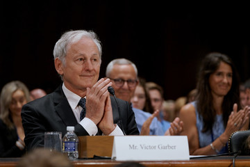 Victor Garber Advocates With Type 1 Diabetes Testify Before The US Senate Special Committee On Aging During The JDRF 2019 Children's Congress In Washington, D.C.