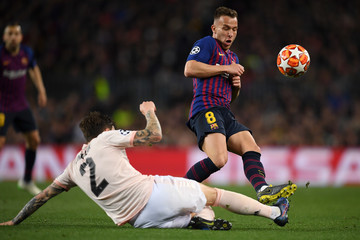 Victor Lindelof FC Barcelona v Manchester United - UEFA Champions League Quarter Final: Second Leg