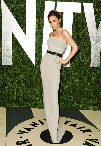 Victoria Beckham Victoria Beckham arrives at the 2012 Vanity Fair Oscar Party hosted by Graydon Carter at Sunset Tower on February 26, 2012 in West Hollywood, California.